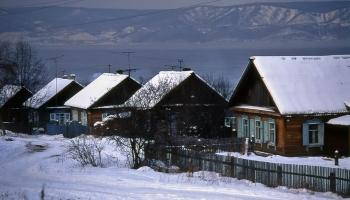 озеро Байкал в Слюдянке, декабрь 1992